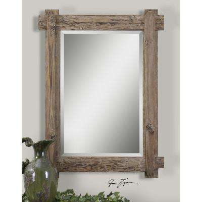 39 in. x 29 in. Wood Framed Mirror