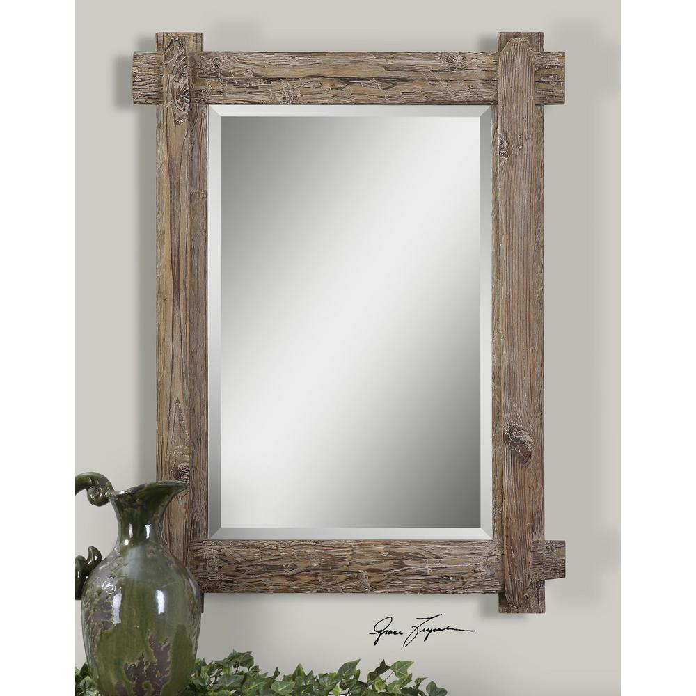 Global Direct 39 in. x 29 in. Wood Framed Mirror-07635 - The Home Depot