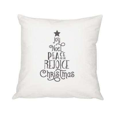 16 in. Christmas Throw Pillow with Christmas Tree Design