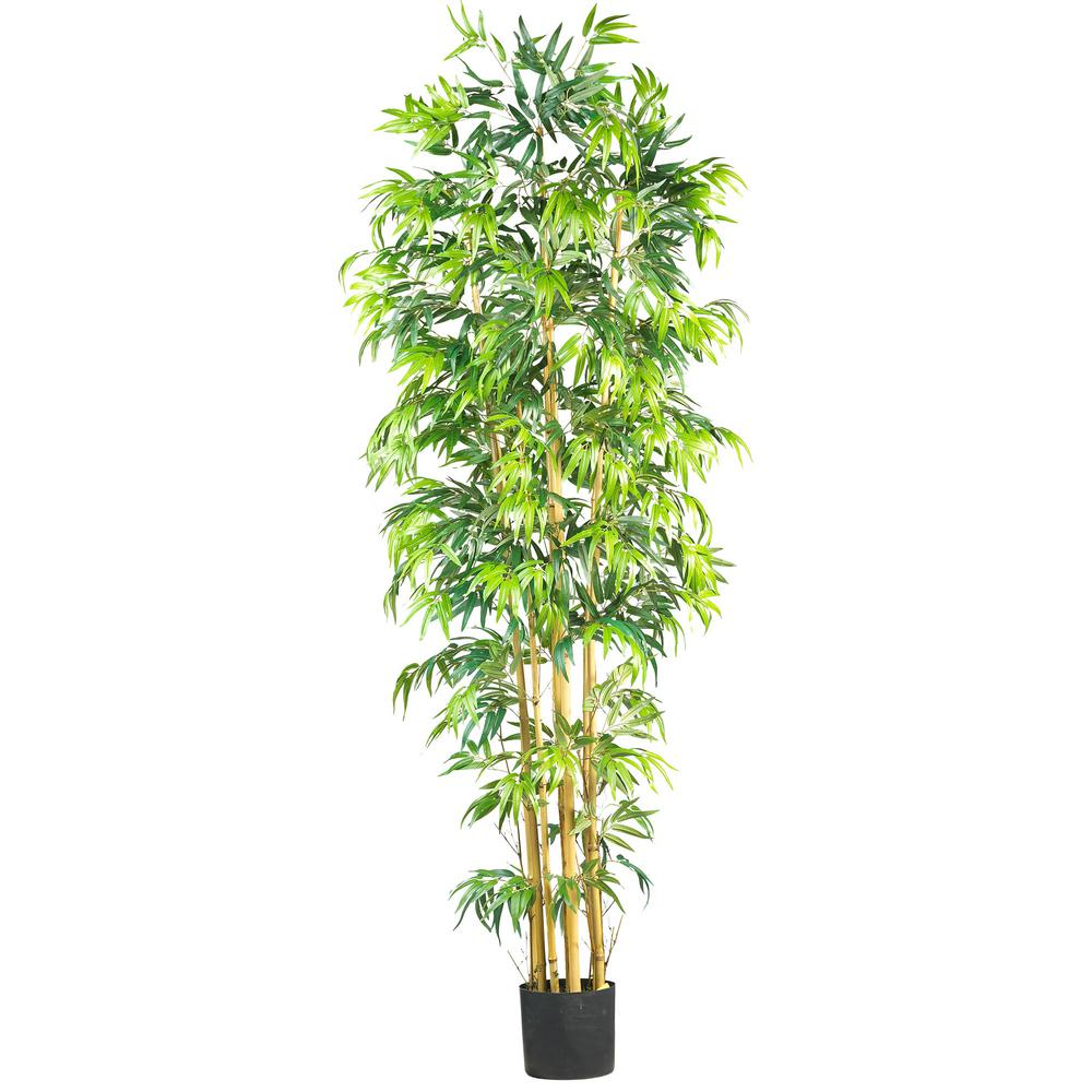 Nearly Natural 7 ft. Bambusa Bamboo Silk Tree, Green