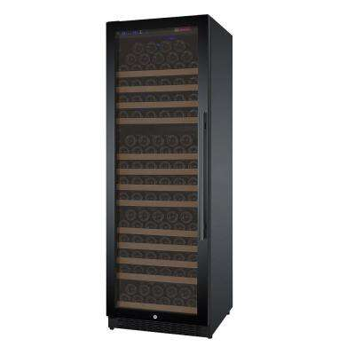 FlexCount Series 177-Bottle Single Zone Wine Cooler with Left Hinge Black Door