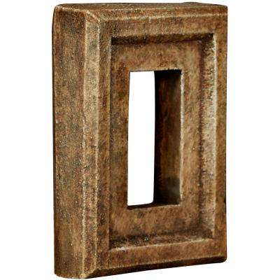 2 in. x 6-1/4 in. x 8-1/4 in. Limestone Urethane Universal Electrical Outlet for Stone and Rock Wall Panels