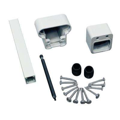Pro White Aluminum Hand Rail and Bottom Rail Connector Kit (2-Pack)