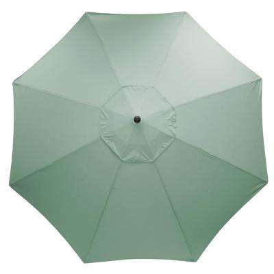 11 ft. Aluminum Market Patio Umbrella in Sunbrella Canvas Spa