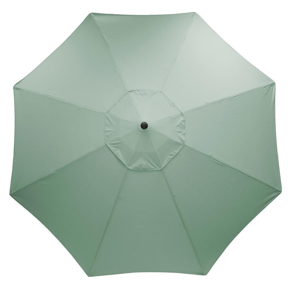 11 ft. Aluminum Market Patio Umbrella in Sunbrella Canvas Spa