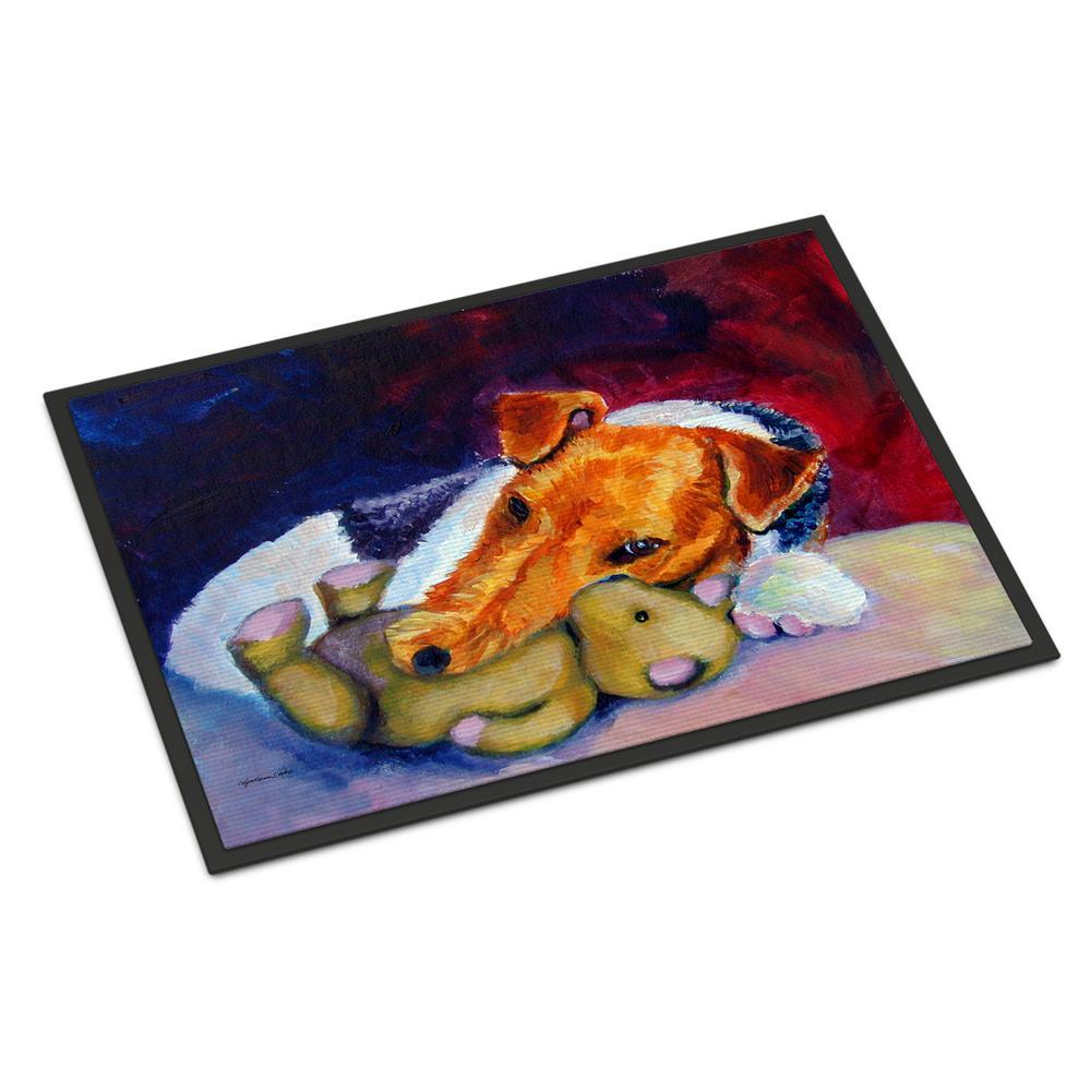 Carolines Treasures 7138MAT Afghan Hound Indoor Outdoor Doormat 18 x 27 Multicolor