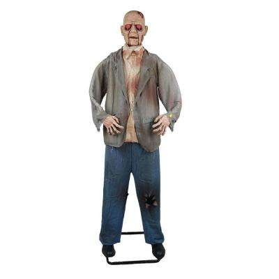 72 in. Standing Zombie with Halloween Sound Effects