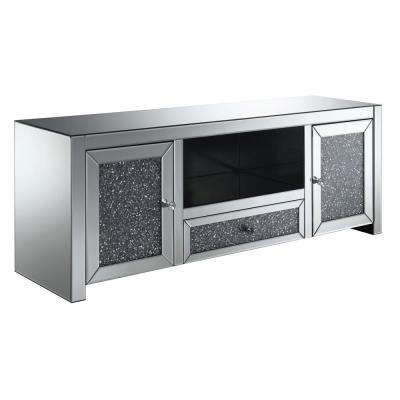 Oliver Silver Glass TV Stand