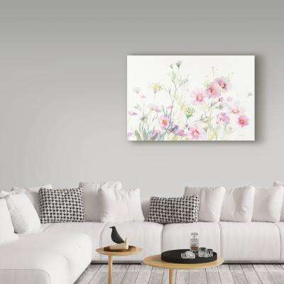 """30 in. x 47 in. """"Queen Annes Lace and Cosmos"""" by Danhui Nai Printed Canvas Wall Art"""
