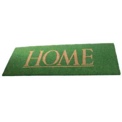 PVC Backed Coir Mat, Home, 48 in. x 18 in. Natural Coconut Husk Doormat