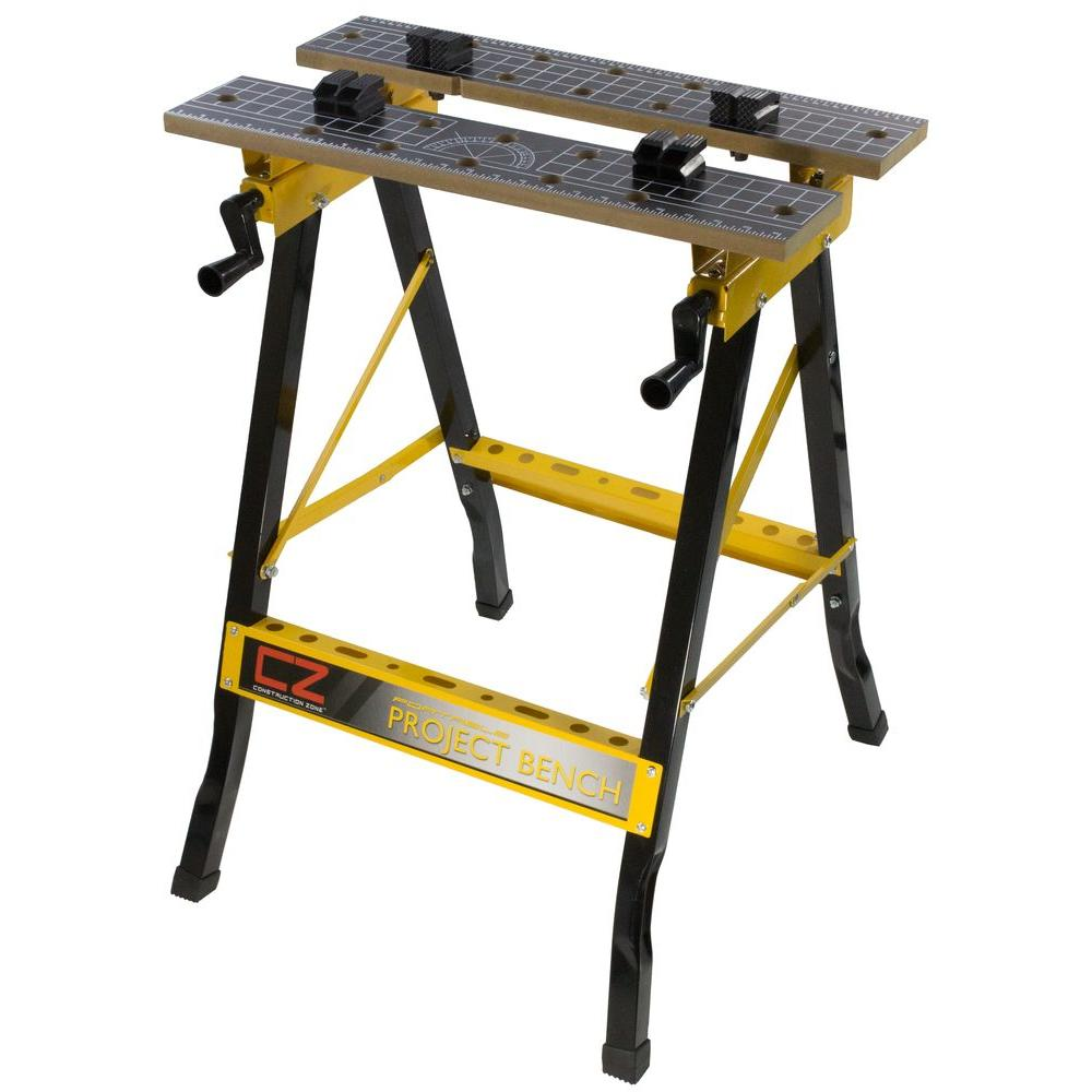Construction Zone 2 Ft Portable Workbench With Storage