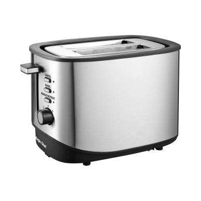 2-Slice Stainless Steel Toaster with Bagel Function