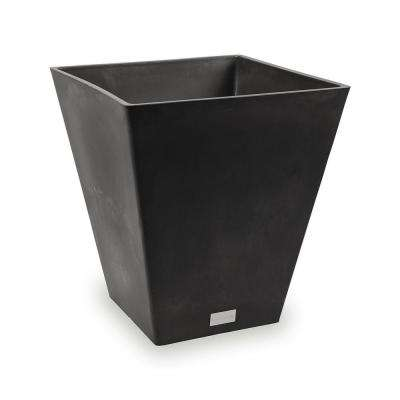Nobleton 16 in. Square Black Plastic Planter