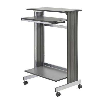 45 in. H x 30 in. W x 20 in. D Euroflex Charcoal/Silver Stand-Up Fixed Height Workstation