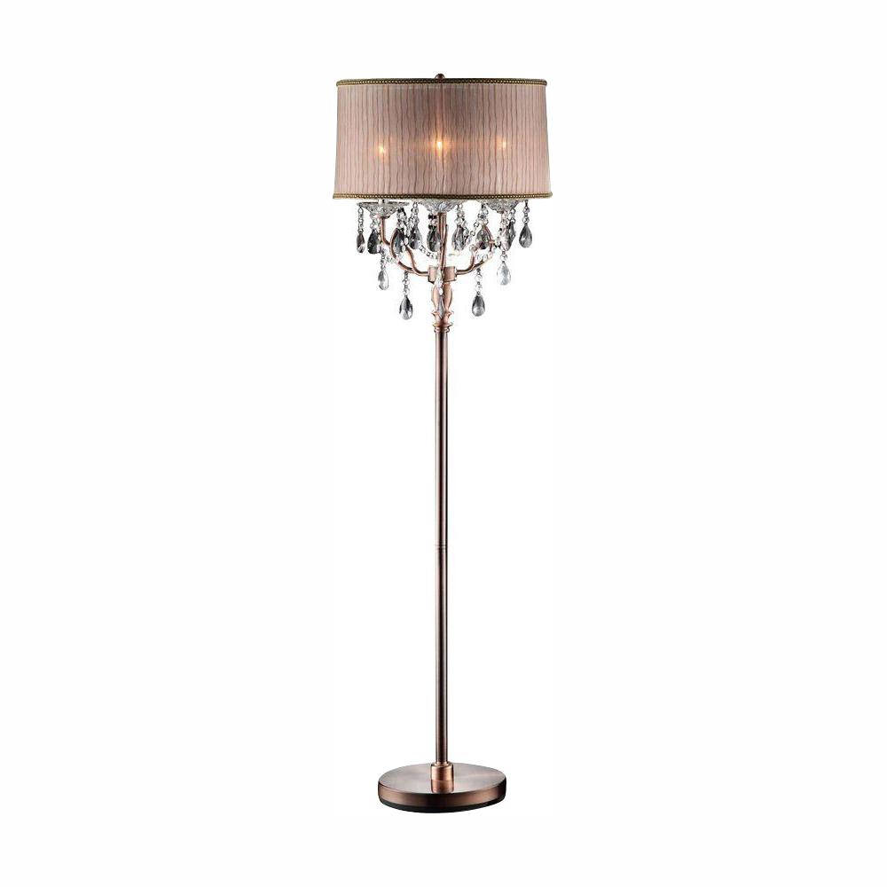 ORE International 62 in. Rosie Crystal Floor Lamp