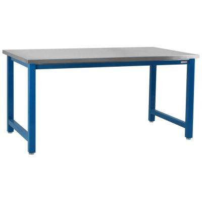 Kennedy Series 6,600 lbs. Capacity 30 in. H x 60 in. W x 24 in. D, 304 Grade Stainless Steel Top Workbench