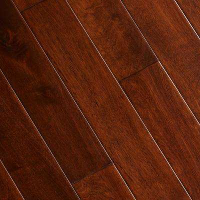 Hand Scraped Maple Saddle 3/4 in. Thick x 3-1/2 in. Wide x Random Length Solid Hardwood Flooring (15.53 sq. ft. / Case)