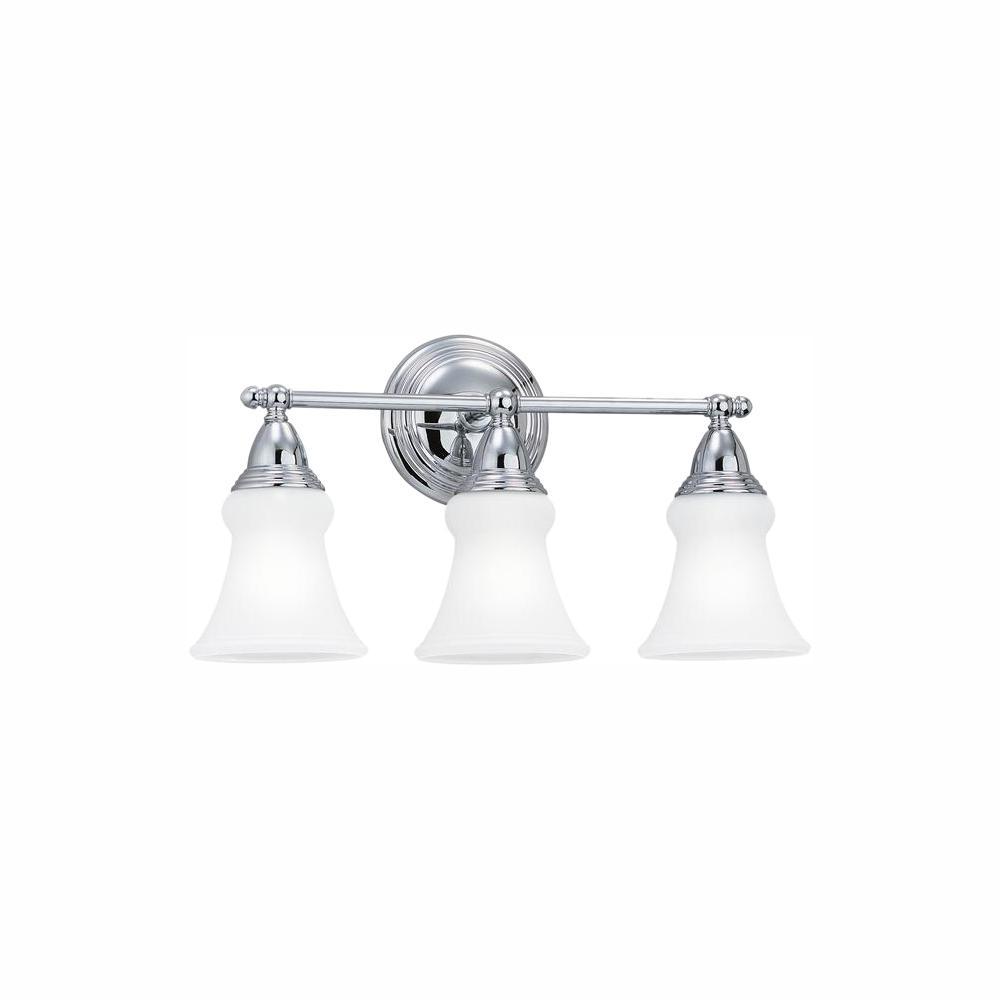 Sea Gull Lighting Sagemore 3-Light Chrome Bath Light with LED Bulbs