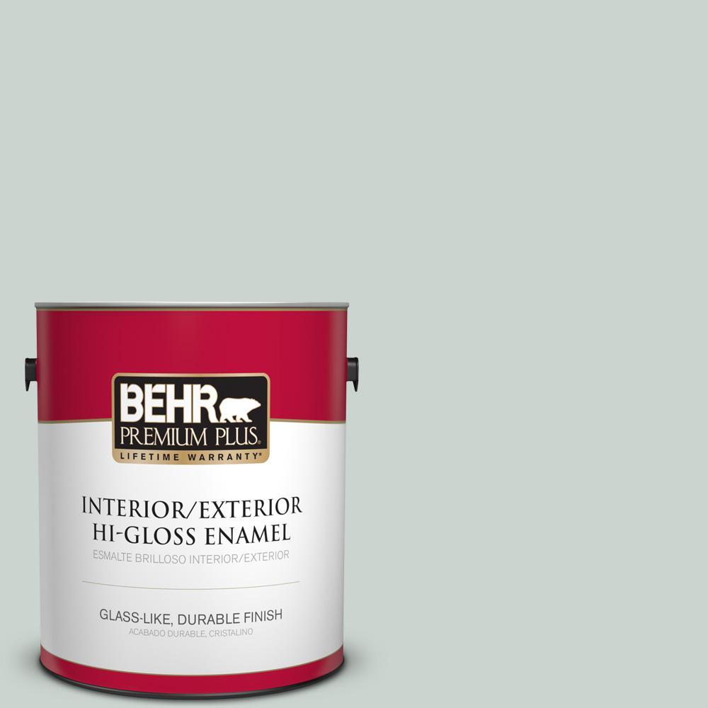 1 gal. #PPU12-11 Salt Glaze Hi-Gloss Enamel Interior/Exterior Paint