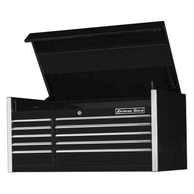 EX Professional 55 in. 10-Drawer Top Tool Chest in Black