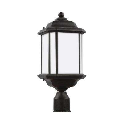 Kent 1 light outdoor oxford bronze post light with led bulb