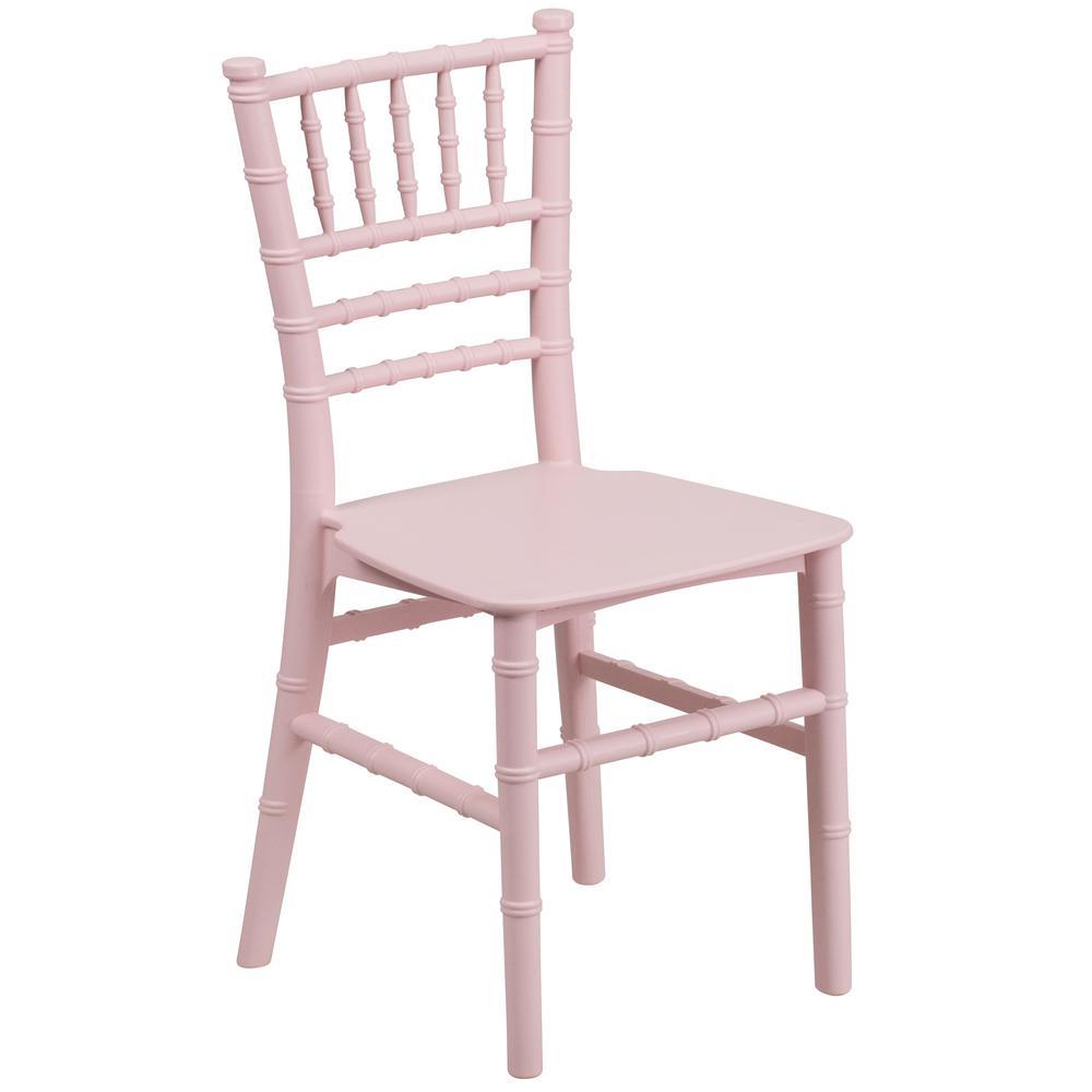Flash Furniture Kids Pink Resin Chiavari Chair LEL7KPK