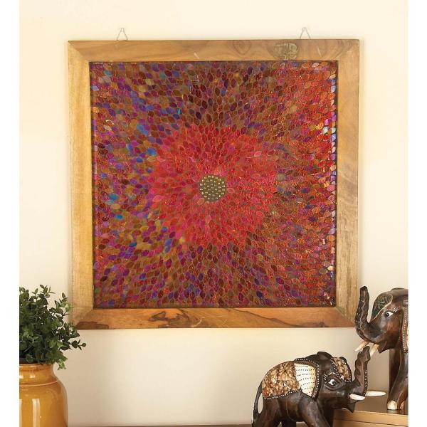 24 In X 24 In Rustic Wooden Mosaic Wall Panel 42223 The Home Depot