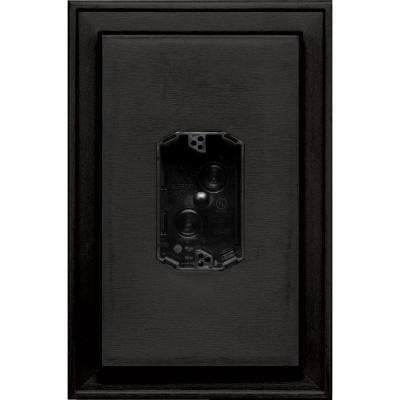 8.125 in. x 12 in. #002 Black Jumbo Electrical Mounting Block Centered