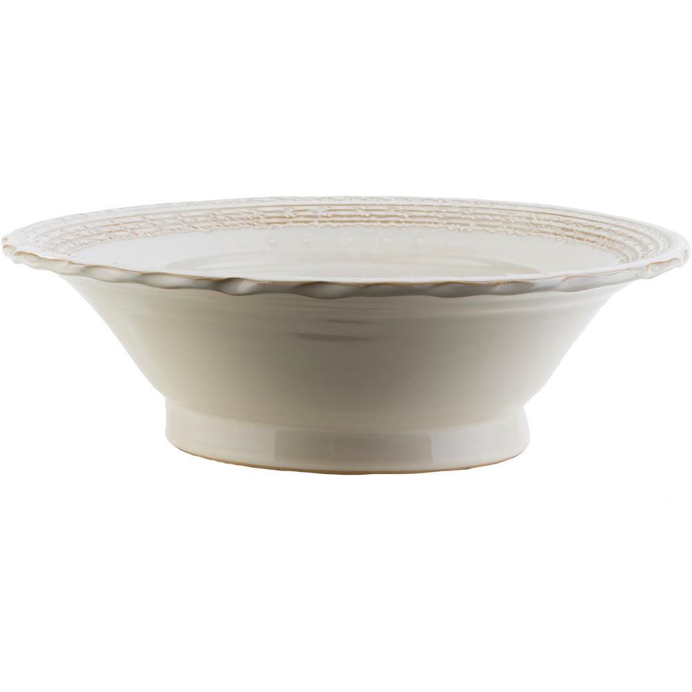 Iska 4.13 in. Khaki Ceramic Decorative Vase