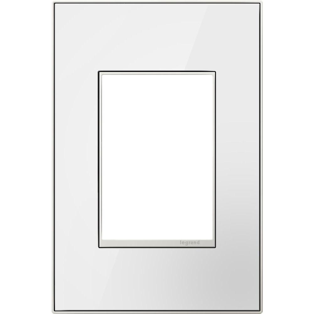 1-Gang 3 Module Wall Plate - Mirror White