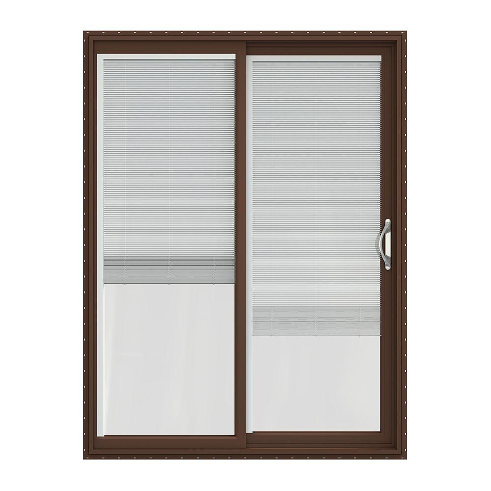 Jeld Wen 60 In X 80 In V 2500 Brown Painted Vinyl Right