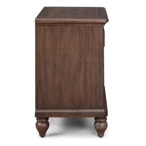 HOMESTYLES Southport 3-Piece Dark Aged Oak Brown King ...