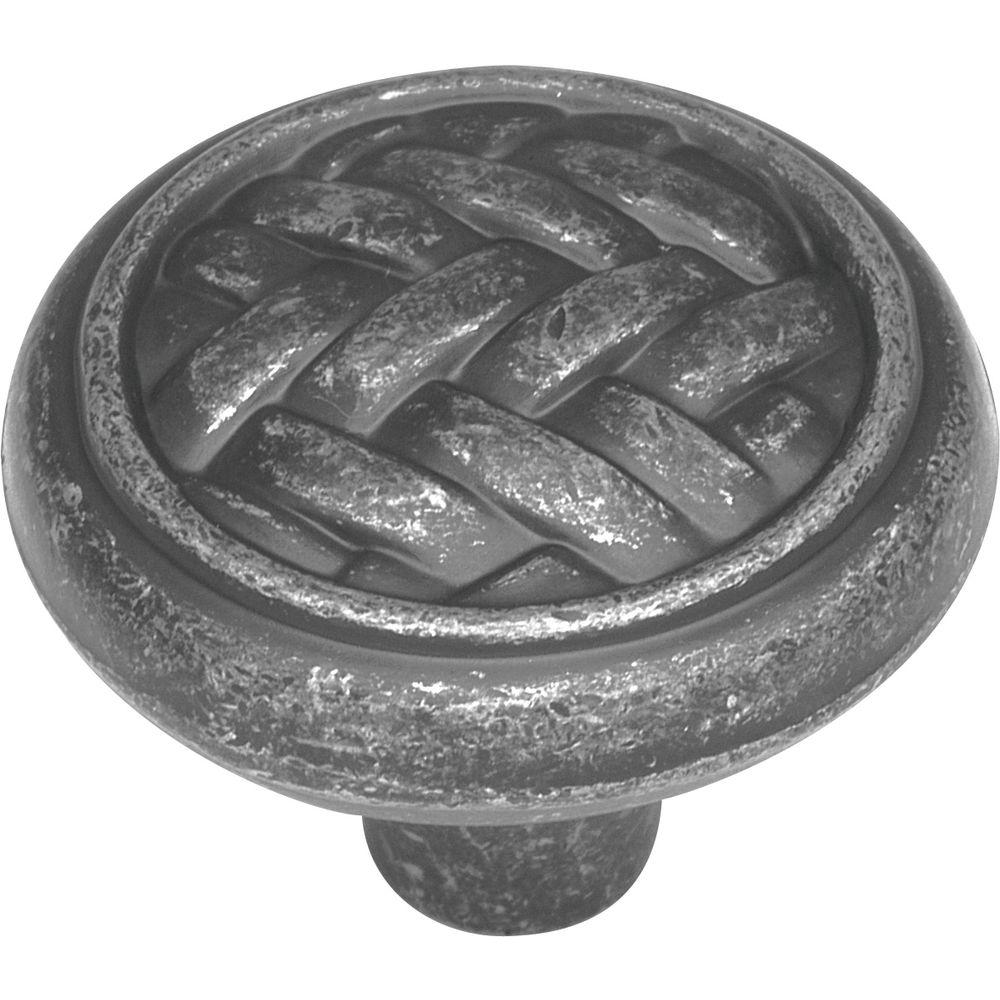 Catamaran 1-1/4 in. Vibra Pewter Cabinet Knob