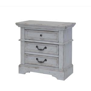 American Woodcrafters Stonebrook 3-Drawer Antique Grey Nightstand by American Woodcrafters