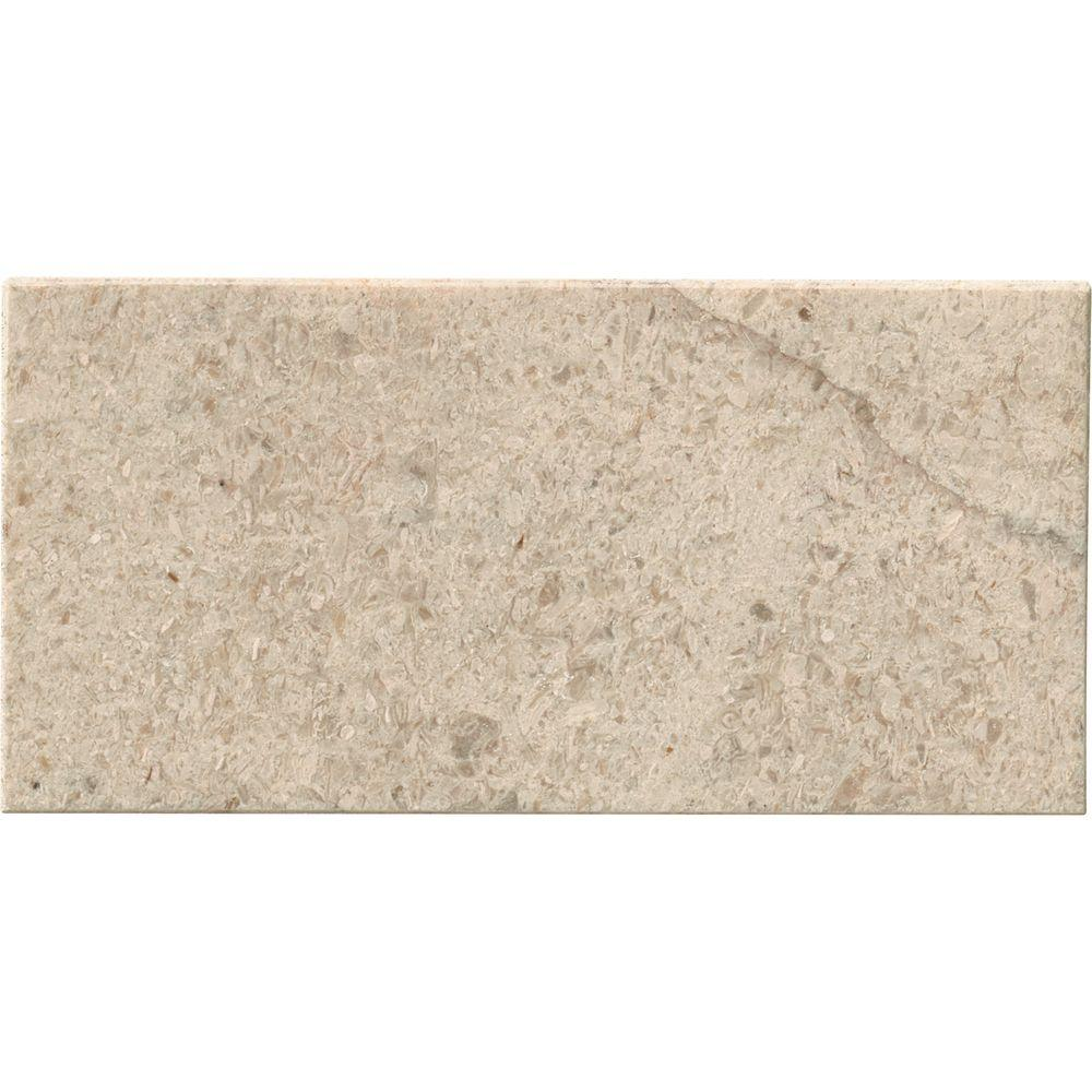 MSI Coastal Sand 3 in. x 6 in. Honed Limestone Floor and Wall Tile (1 sq. ft. / case)