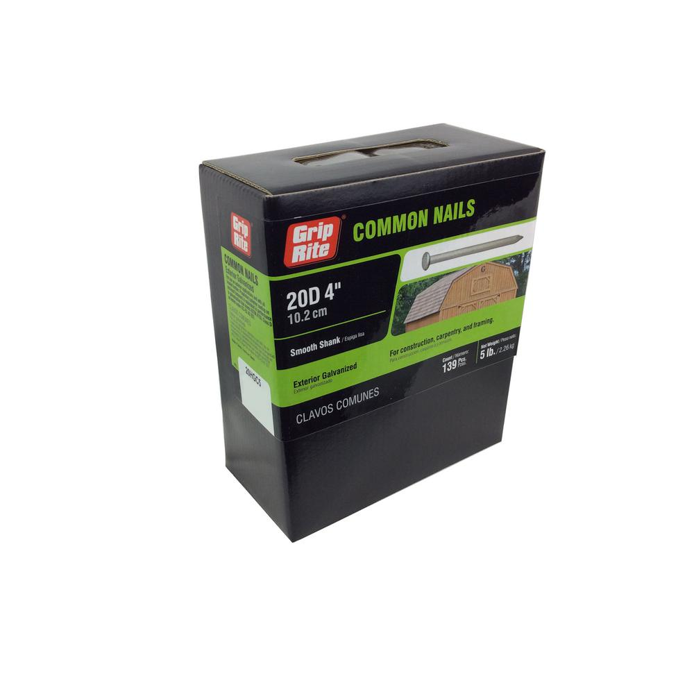20d Galvanized PT Lumber Nails 4 1LB Box
