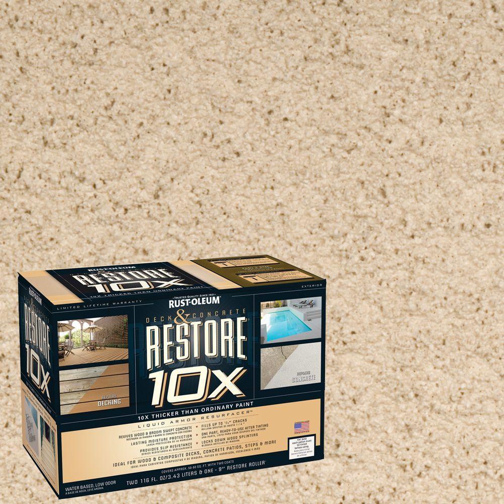 Rust-Oleum Restore 2-gal. Beach Deck and Concrete 10X Resurfacer