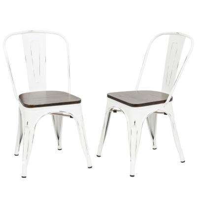 Ash Antique White Wood Seat ... - Antique White - Dining Chairs - Kitchen & Dining Room Furniture