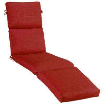 Sunbrella Jockey Red Outdoor Chaise Lounge Cushion