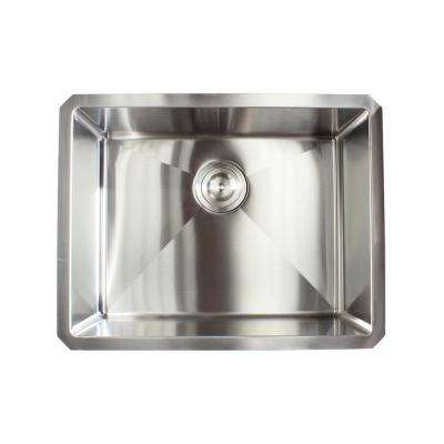 Stainless Steel Undermount 21 in. Single Bowl Kitchen Sink