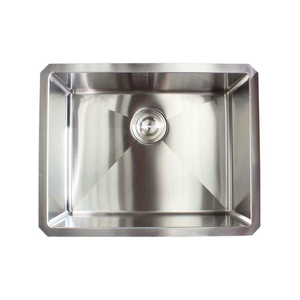 Undermount 16-Gauge Stainless Steel 23 in. x 18 in. x 10 in. Single Bowl Kitchen Sink