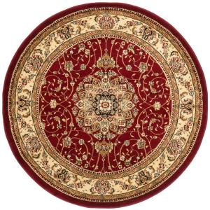 Safavieh Lyndhurst Red/Ivory 5 ft. 3 inch x 5 ft. 3 inch Round Area Rug by Safavieh
