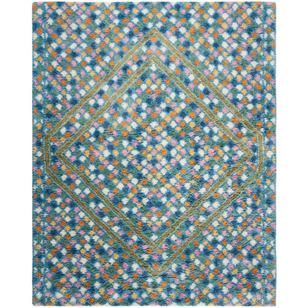 Safavieh Casablanca Ivory Blue 8 Ft X 10 Ft Area Rug Csb750a 8 The Home Depot