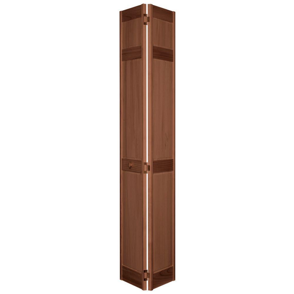 36 in. x 80 in. 6-Panel Maple PVC Composite Interior Bi-fold Door ...