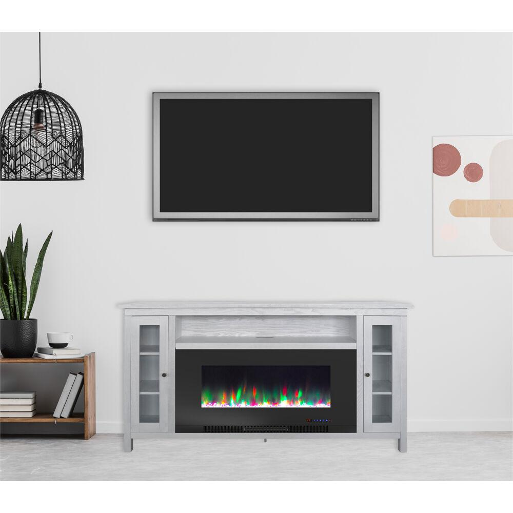 Cambridge Somerset 70 In White Electric Fireplace Tv Stand In