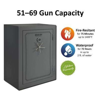 69-Gun Fire/Waterproof Electronic Back-Lit Lock Safe, Gray Pebble