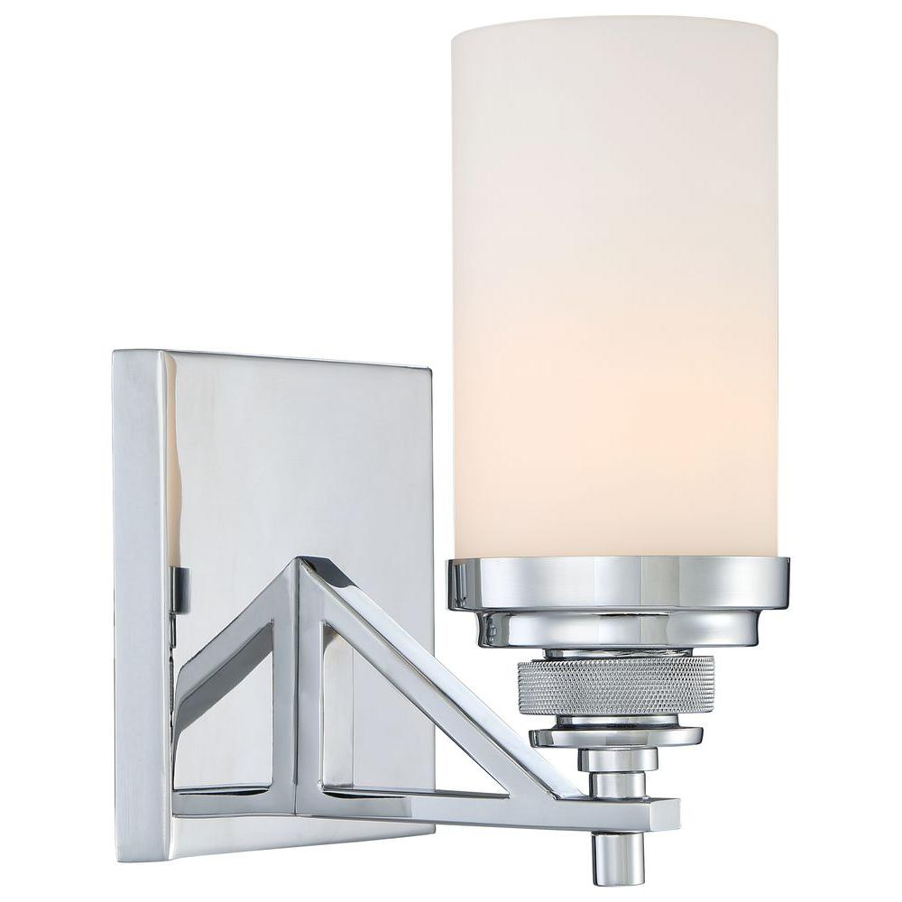 Brushcreek 1-Light Chrome Bath Light