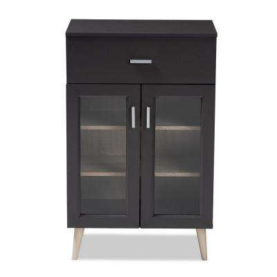 Jonas Dark Gray and Oak Brown Kitchen Cabinet