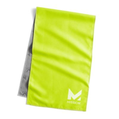 10 in. x 33 in. Green Polyester/Nylon Cooling Towel (4-Pack)