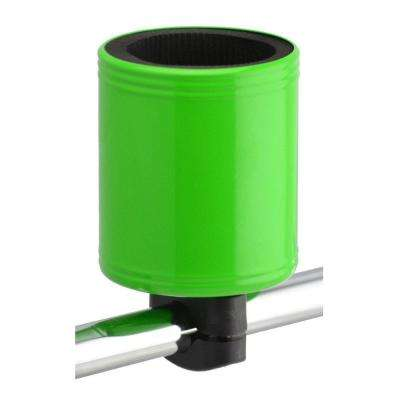 Kroozercups Drink Holder 2.0 Fits Bars from 5/8 in. to 1-3/8 in. with New Super-Tight Grip in Lime Green